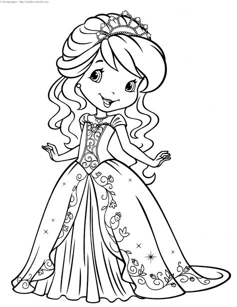 Strawberry Shortcake Princess Coloring Pages Timeless