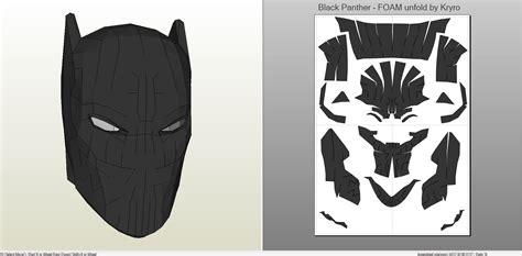 black panther mask template papercraft pdo file template for black panther mask