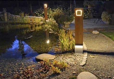 borne solaire puissante bois 204 lumens eclairage solaire