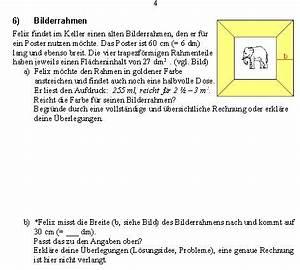 Moleküle Berechnen : fl che fl chen berechnen bilderrahmen mit elephant mathelounge ~ Themetempest.com Abrechnung