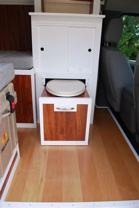 clever portapotty  pulls    cabinetry sprinter van cargo trailer camper