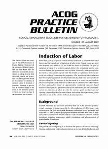 No 107 induction of labor acog 2009