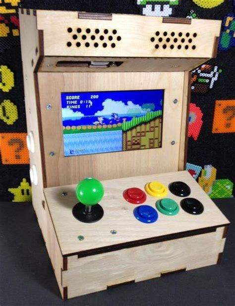 mini pac arcade cabinet builders kit build your own mini arcade cabinet with raspberry