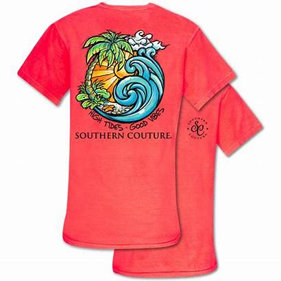 Vibes Tides Colors Southern Comfort Couture Tee