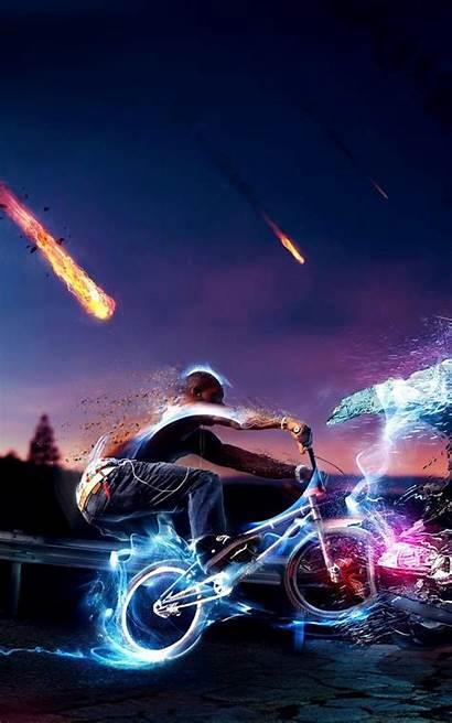 Abstrak Gambar Untuk Meteor Android Cahaya Motor