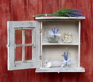 Küchenschrank Shabby Chic : kleiner h ngeschrank k chenschrank im shabby chic stil wei auf alt getrimmt ebay ~ Orissabook.com Haus und Dekorationen