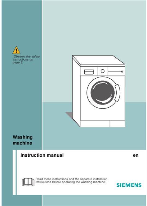 lave linge en anglais siemens e14 46 mode d emploi notice d utilisation manuel utilisateur t 233 l 233 charger pdf