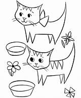 Coloring Cat Pages Cats Boys Popular Template sketch template
