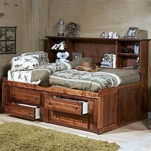 Trendwood, Sedona, Twin, Cheyenne, Bookcase, Bed