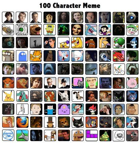 Meme Characters - 100 characters meme by sharkayartist on deviantart