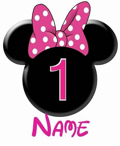 Mouse Minnie Birthday Clip Mickey Clipart Avery