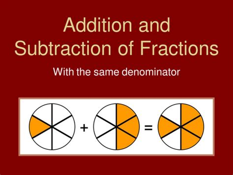 addition and subtraction of fractions at key stage 2 big