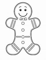 Gingerbread Coloring Pages Printable sketch template
