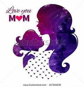 Card Happy Mothers Day Beautiful Mother Lager-vektor ...