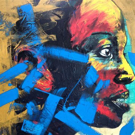 artist nelson makamos dynamic portraits  johannesburg