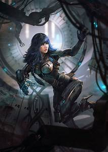 She Looks Very Hot With Her Cyber Armor And Her Svelte