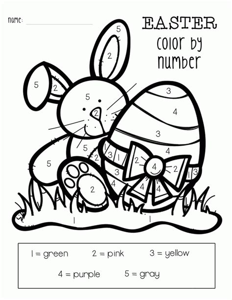 what are easter colors easter color by numbers best coloring pages for