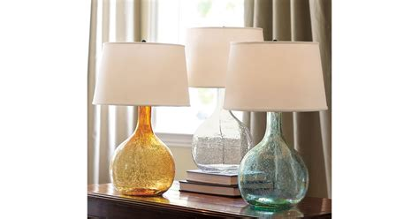 The Pottery Barn Eva Colored Glass Table Lamp () Has