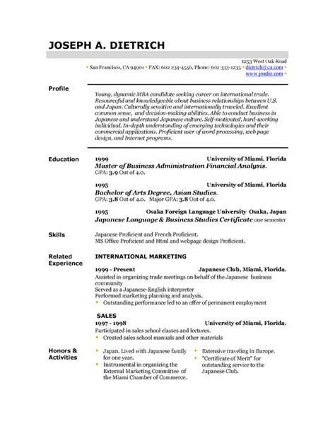 Free Resume Templates by Free Resume Template Downloads Easyjob