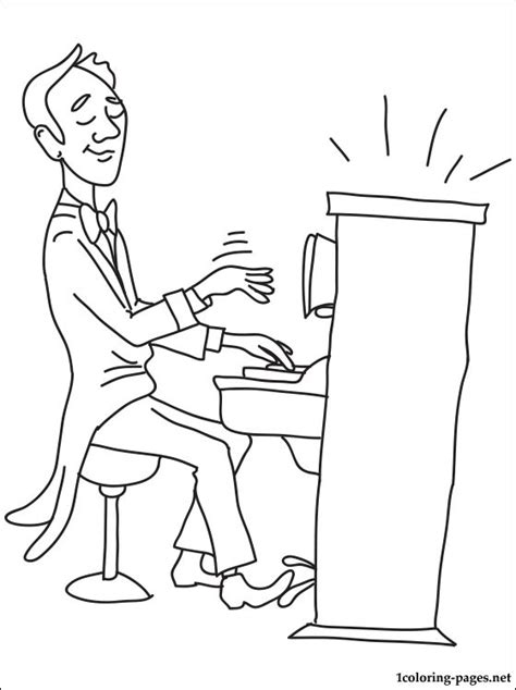 pianist coloring page coloring pages