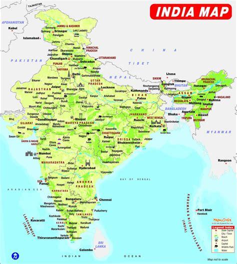 indien geographischen karte