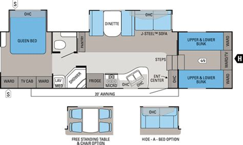 2012 Jayco 5th Wheel Floor Plans by 2012 Eagle Lite Jayco Inc