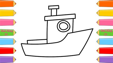 How To Draw A Boat Kindergarten by How To Draw Ship A Boat Coloring Pages For Kids