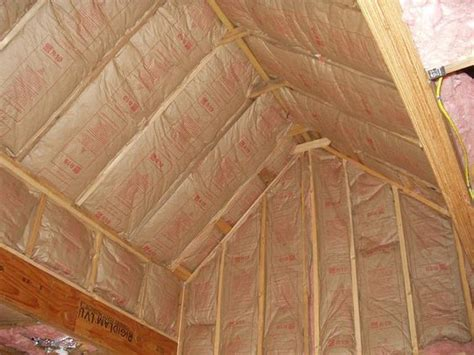 insulating a vaulted ceiling ideas anyone insulation of vaulted ceiling here s the progress with