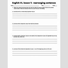 Writing Activity For Rearranging Sentences By Timesaving Resources