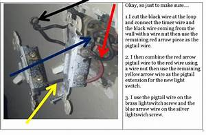 Problem wiring porch light timer on a year old house