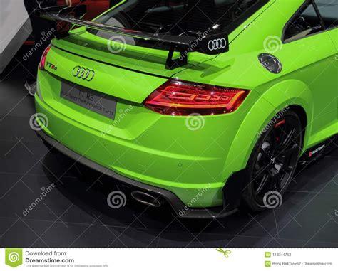 Switzerland; Geneva; March 8, 2018; Audi Tt Rs Rear Side