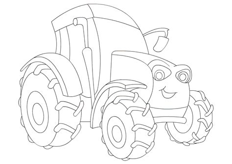 color  tractor  coloring pages  kids