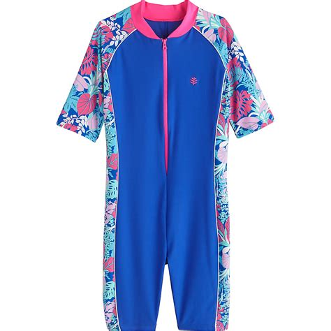 In 5 Introductory Offer Children 39 S Clothes Coolibar Upf 50 39 Neck To Knee Surf Suit Ebay