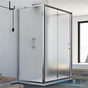 Cabine Douche 3 Parois Vitrées : cabine de douche 3 parois en verre porte unique ~ Premium-room.com Idées de Décoration