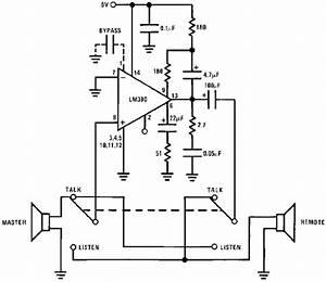 lm390 simple 2 way intercom circuit koleksi skema With two way circuit