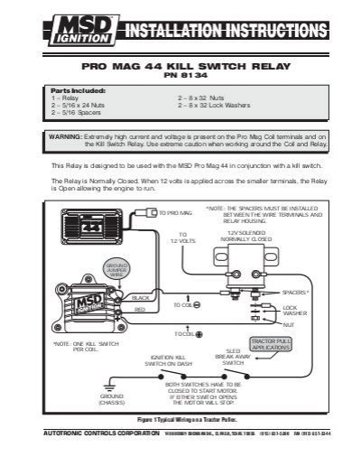 pro mag 44 kill switch relay wiring diagram msd pro mag