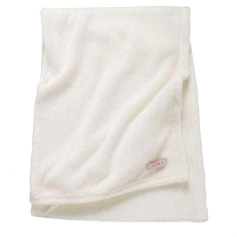 plaid blanc en polyester blanc doux    cm