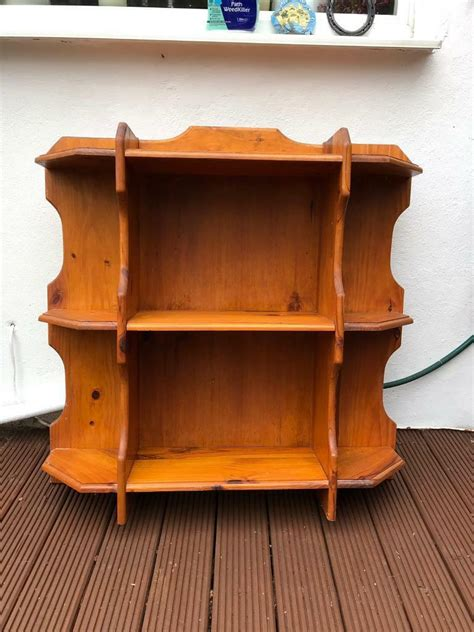 large wooden shelf kitchen storage unit shabby chic project  coulsdon london gumtree