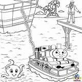 Thomas Train Friends Tank Engine Rescue Island Misty Coloring Sea Printable Colouring Sheets Printables Boat Trains Games Cartoon Lost Toys sketch template