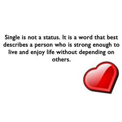 being single quote saying single status