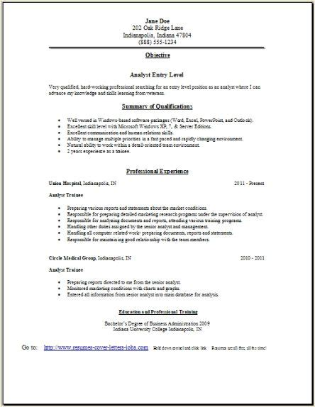analyst resume occupationalexamplessamples  edit