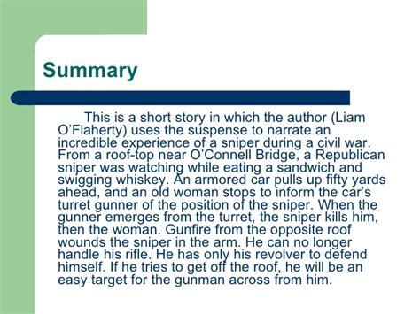 Short stories with summary and analysis