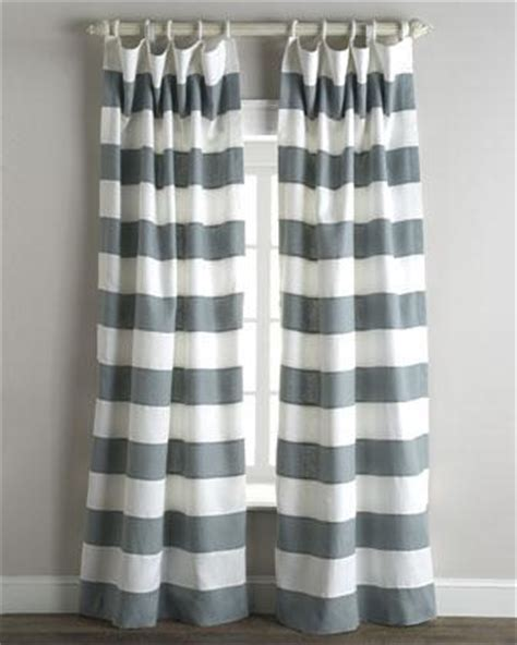 White And Gray Striped Curtains by Tuscany Stripe Curtains Neiman