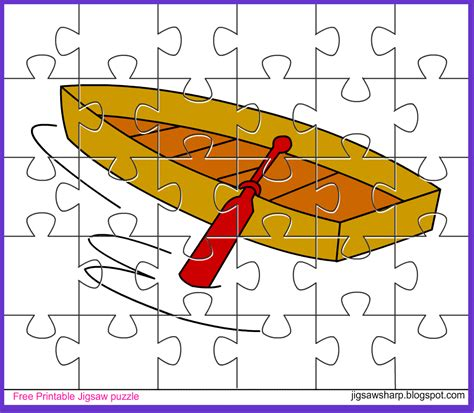 Puzzle Boat by Free Printable Jigsaw Puzzle Boat Jigsaw Puzzle