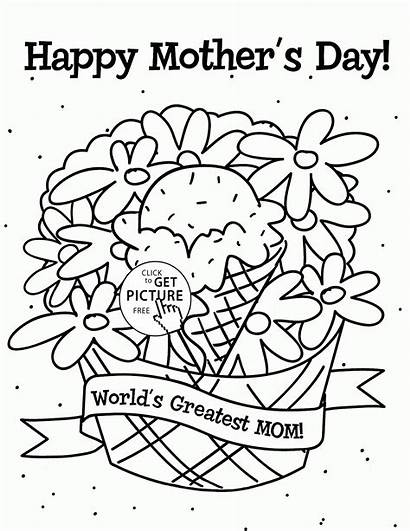 Mother Coloring Mothers Mom Sheets Printables Wuppsy