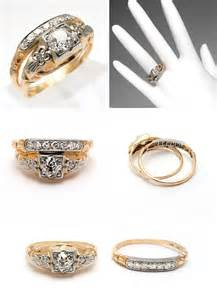 antique wedding ring sets antique yellow gold wedding ring sets the wedding specialiststhe wedding specialists