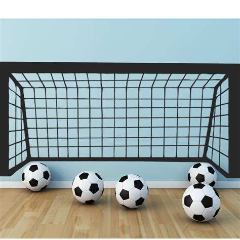 cage deco pas cher stickers cage football pas cher