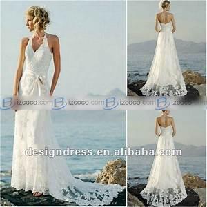 Casual white halter dresses for beach wedding wedding for Casual beach dresses for wedding guests