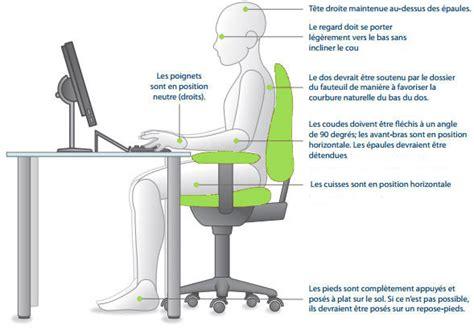 adopter une bonne position au travail bien o bureau