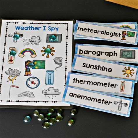weather theme preschool lesson plans stay at home educator 794 | vocabulary activity for weather theme preschool lesson plans TPT